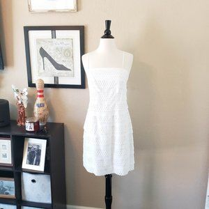 Suzi Chin for Maggy Boutique ~ White Tiered Dress